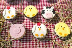 Farm animal cupcakes from a Farm Birthday Party on Kara's Party Ideas | KarasPartyIdeas.com (25)