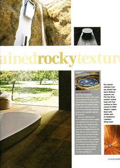 Onyx and Bongo stone basins from Lapicida lapicida.com The Daily Telegraph Luxury Homes October 2014