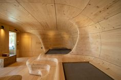 Hyades Mountain Resort hotel suite is made from 1,000 pieces of spruce