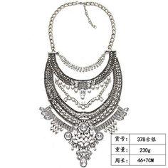 Loveiystar 2017 New Arrival Women Necklace Jewelry Accessories Rhinestone  Vintage Alloy Women Boho Punk Collar Necklace 524efd04eaef