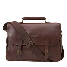 Barbour | Leather Dark Brown Briefcase UBA0011BR71
