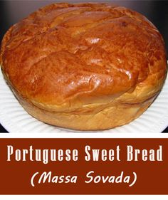 No where else can make a sweet bread loaf like my hometown of Fall River, MA. It is a traditional recipe that is known to be brought over fr. Portugese Sweet Bread, Portuguese Bread, Portuguese Desserts, Portuguese Recipes, Masa Recipes, Easy Bread Recipes, Cooking Recipes, Healthy Recipes, Hawaiian Bread Recipe