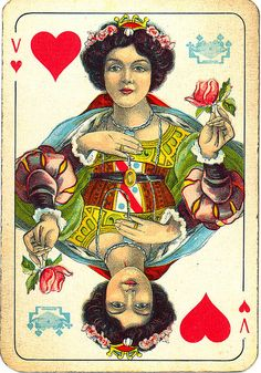 Dutch playing cards from 1920-1927: Queen of Hearts | Flickr - Photo Sharing!