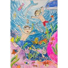 Искусство Для Детей, Подводная Тема, Детский Сад Творчество, Уроки Искусства, Деятельность, Рисунки, Отпуск, Картинки