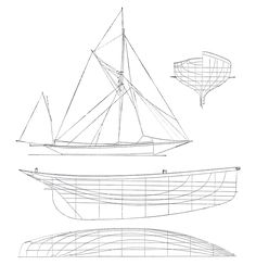 Trident II, 60ft cutter yacht launched in 1892 in Lormont, France, designed by Joseph Guédon.