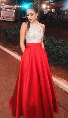 Red Beading Prom Dresses Long Ever Pretty Backless#prom #promdress #dress #eveningdress #evening #fashion #love #shopping #art #dress #women #mermaid #SEXY #SexyGirl #PromDresses