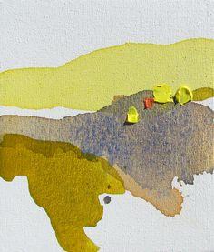 "Lauren Adams. ""Autumn River I"" acrylic and molding paste on canvas.  8.5 x 10"""