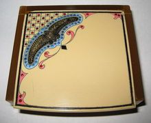 Vintage 20's Art Deco Celluloid Jewelry Box, Paste