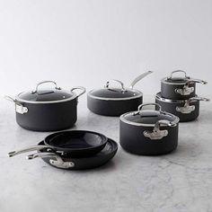GreenPan™ Black Ceramic Nonstick 12-Piece Cookware Set #williamssonoma