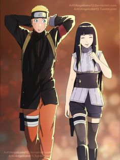 A picture from Naruto: The Last databook, where Naruto and Hinata are sit next to eachother. Naruto and Hinata Next to each other