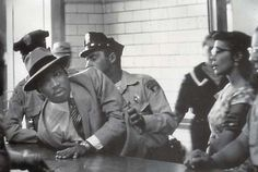 """Arrest of Dr. Martin Luther King (with his wife watching), MLK was trying to attend a hearing for civil rights leader Ralph Abernathy & was arrested for """"loitering."""" Photo by Charles Moore Martin Luther King, Coretta Scott King, Harry Belafonte, Joan Baez, Civil Rights Leaders, Civil Rights Movement, Palm Beach, The Jackson Five, Photoshop Me"""