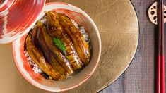 Make this roasted eggplant donburi recipe as a vegan alternative to unagi. Get the Japanese recipe at PBS Food.