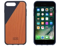 Native Union CLIC Wooden Case iPhone 7 Plus marineblauw  SHOP ONLINE: https://www.purelifestyle.be/technology/iphone/accessoires/bescherming/covers/iphone-7-plus/native-union-clic-wood-iphone7plus-marineblauw.html