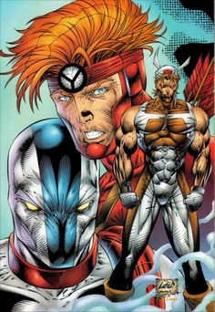 Past Work - Rob Liefeld Creations Comic Books Art, Comic Art, Book Art, Rob Liefeld, Injustice 2, Group Poses, Anatomy Drawing, Image Comics, Classic Cartoons