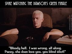 Angel = Dawson and Spike = Pacey. Angel was not NEARLY as annoying as Dawson though.