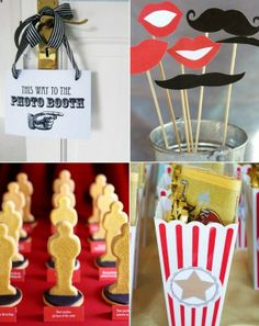 hollywood party ideas - CUTE!!!!!!!!! Have guests come as their favorite actors or movie character