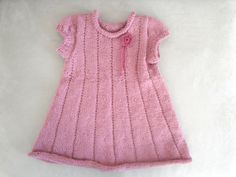 Hey, I found this really awesome Etsy listing at https://www.etsy.com/listing/166254286/pink-knit-dress-baby-toddler-girls-1-2