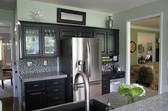 #kitchen #paint #black bean cabinet