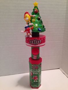 46b23c824aa M M s Christmas Light Sound Tree Candy Tube New SEALED with Candy 2015