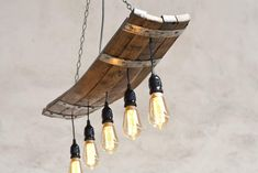 The Napa - Recycled Wine Bottle Hanging Chandelier - Modern Farmhouse Lighting