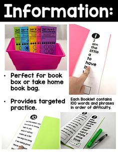 Sight Words and Fluency Phrases Booklets - Tunstall's Teaching Tidbits