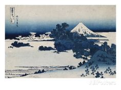 Shichirigahama in Suruga Province'- from the Series 'The Thirty Six Views of Mount Fuji' Prints by Katsushika Hokusai at AllPosters.com