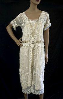1920 lace tea dress