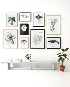 Maaike Koster (founder) has brought a limited collection botanical art prints together for My Deer Art Shop. All prints are signed with handwritten numbering. Inspiration Wand, Decoration Inspiration, Wall Art Decor, Room Decor, Decor Scandinavian, Deer Art, Frames On Wall, Ribba Frame, Wall Frame Layout