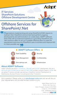 Adapt SharePoint Add-ins are the best solution for your business processes automation. Be it SharePoint on premise or Office 365, you do not need expensive SharePoint resources to deploy or manage these Add-ins.http://www.adapt-india.com/default.aspx