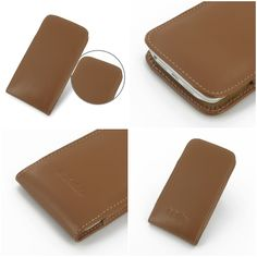 PDair Leather Case for LG Optimus G2 F320S F320K F320L - Vertical Pouch Type (Brown)