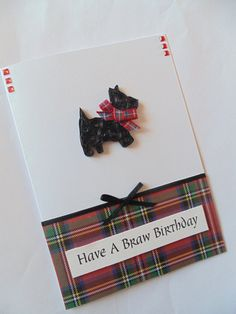 Scotty dog birthday card quilled cards dog cards by KaisCards