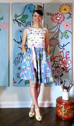 Cassie Stephens: DIY: A (Brush)Stroke of Genius Dress!