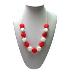 PinkyBlue-Geo-Bead-Silicone-Necklace-Mum-Jewellery-Sensory-Autism-Aspergers-ASD-red