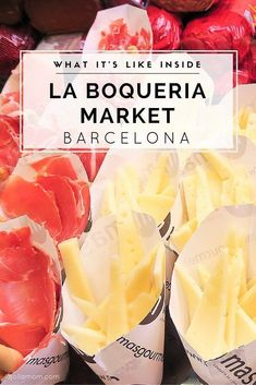 See what it's like to step inside the famous La Boqueria Market in Barcelona. Learn about good places to eat, what's sold inside and nice souvenirs to bring home. Check it out at La Jolla Mom! Eurotrip, Malaga, La Boqueria Barcelona, Vicky Christina Barcelona, Cinque Terre, Barcelona Travel Guide, Food In Barcelona, Barcelona Vacation, Barcelona Restaurants