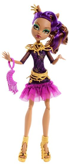 Amazon.com: Monster High Frights, Camera, Action! Black Carpet Clawdeen Wolf Doll: Toys & Games