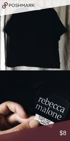 Retro Black Shirt Simple and basic / MAKE AN OFFER! Rebecca Minkoff Tops Blouses