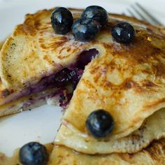 """Todd& Famous Blueberry Pancakes I """"These are the best blueberry pancakes I . - Breakfast and Brunch Recipes - Breakfast And Brunch, Breakfast Crepes, Breakfast Items, Breakfast Dishes, Blueberry Pancakes, Pancakes And Waffles, Blueberry Breakfast, Waffle Recipes, Brunch Recipes"""