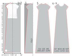 Schnittmuster für Kleid