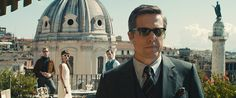 . (L-R) Armie Hammer as Illya Kuryakin, Alicia Vikander as Gaby Teller, Henry Cavill as Napoleon Solo and Hugh Grant as Waverly in \'The  Man From U.N.C.L.E.\' (Warner Bros.)