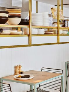 The bold interiors of new Brisbane cafe Gauge - Vogue Living_Photos by Toby Scott