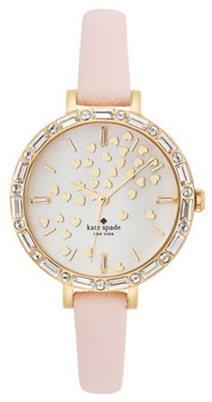 love this  scattered hearts pink watch
