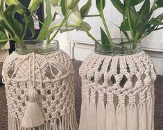 Macrame Plant Hanger Patterns, Macrame Patterns, Macrame Toran, Vase, Butterfly Art, Recycled Glass, Diy Cards, Glass Jars, Crafts