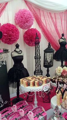 Quinceanera Party Planning – 5 Secrets For Having The Best Mexican Birthday Party Paris Themed Birthday Party, 40th Birthday Parties, Parisian Themed Parties, Spa Birthday, 10th Birthday, Birthday Ideas, Thema Paris, Chanel Party, Sweet Sixteen Parties
