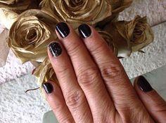 Gelish, Nails, black