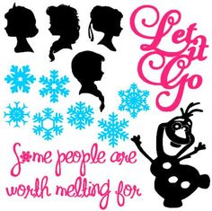 INSTANT DOWNLOAD Frozen inspired digital cut files for use with Silhouette Cameo Electronic Cutting Tool by bibberberry on Etsy https://www.etsy.com/listing/213594057/instant-download-frozen-inspired-digital