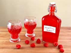 Anne of Green Gables Raspberry Cordial      4 pints (48 oz.) raspberries, fresh or frozen     1/3 cup fresh lemon juice     3 cups sugar     12 cups water