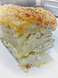 Chef Tess Bakeresse: Best Ever Make-Ahead Potato Gratin Casserole