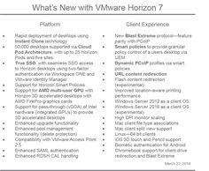 Virtual Maestro: Whats new in Horizon 7