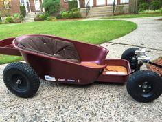 Gokart Plans 815010863790319370 - Yes, custom wagon… Source by lsylvano Soap Box Derby Cars, Soap Box Cars, Custom Radio Flyer Wagon, Radio Flyer Wagons, Kids Wagon, Toy Wagon, Rat Rod Cars, Pedal Cars, Custom Go Karts