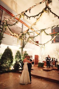 Winter forest wedding